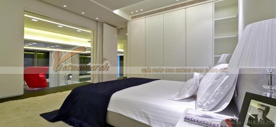Thiết kế nội thất phòng ngủ căn hộ penthouse