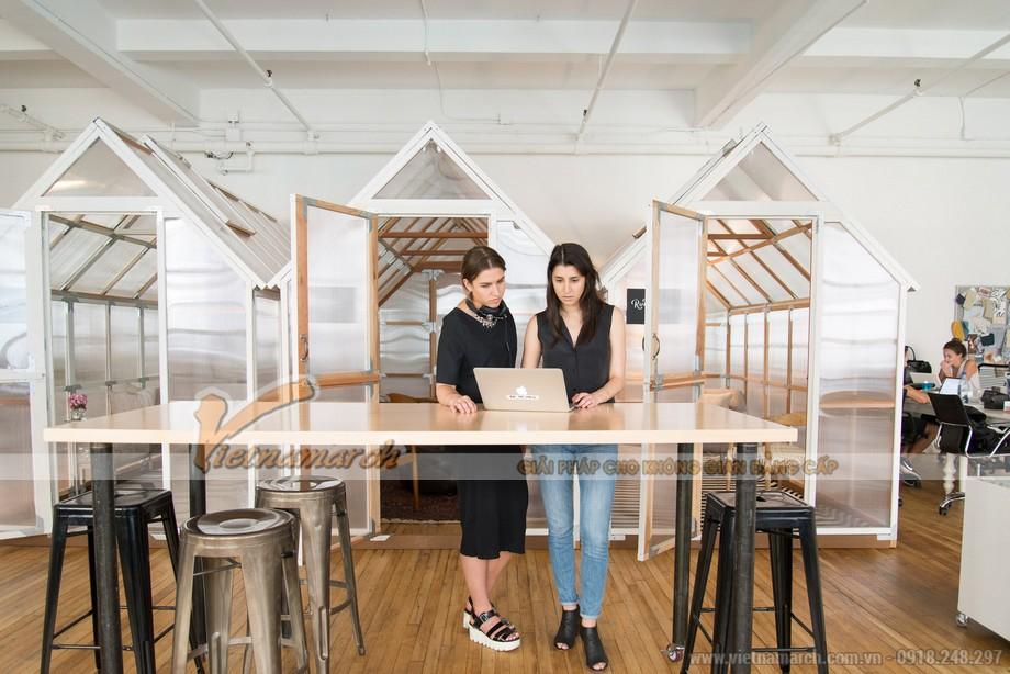Độc đáo với văn phòng có không gian làm việc sáng tạo