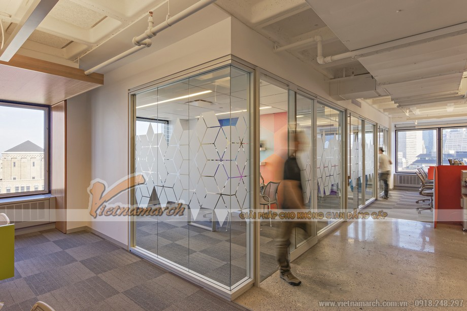 Thiết kế văn phòng với những lát cắt