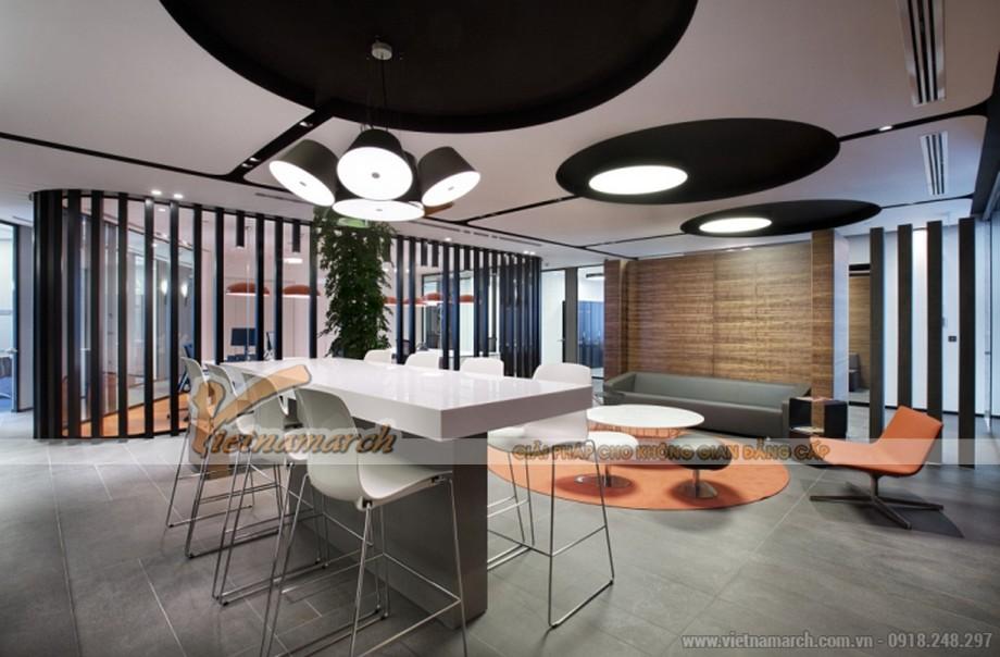Ngăn chia giữa cac khu vực khác nhau trong văn phòng bằng vách ngăn