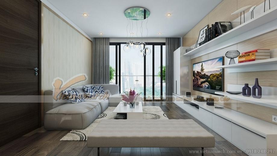 Phòng khách và phòng bếp chung không gian