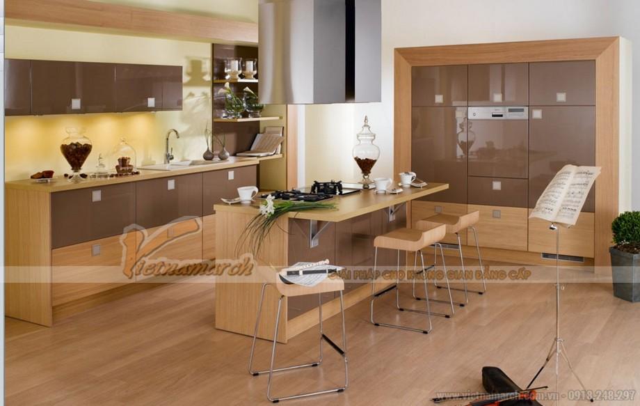 Những mẫu tủ bếp gỗ cao cấp có thiết kế đẹp nhất 2016