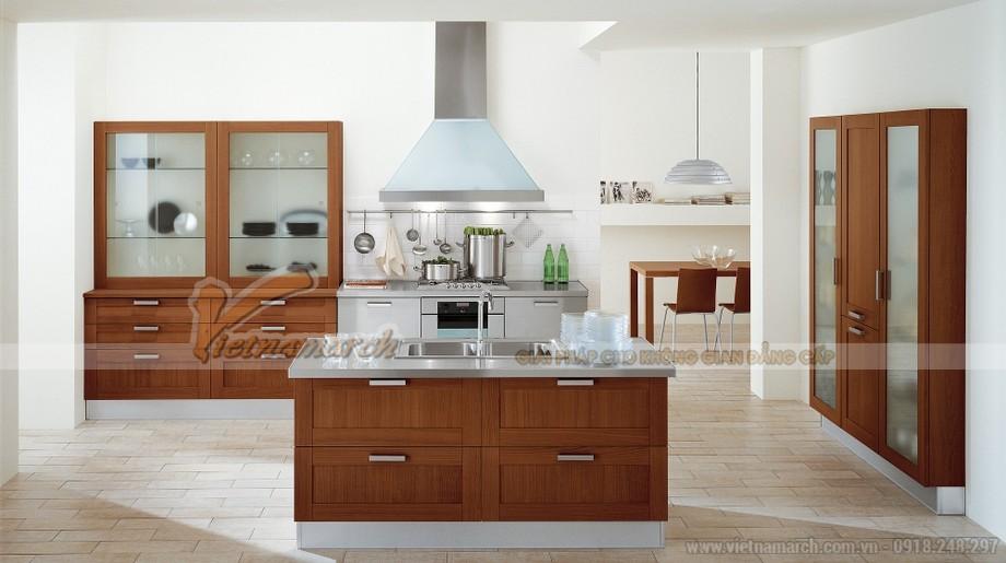 Thiết kế tủ bếp gỗ lịch thiệp