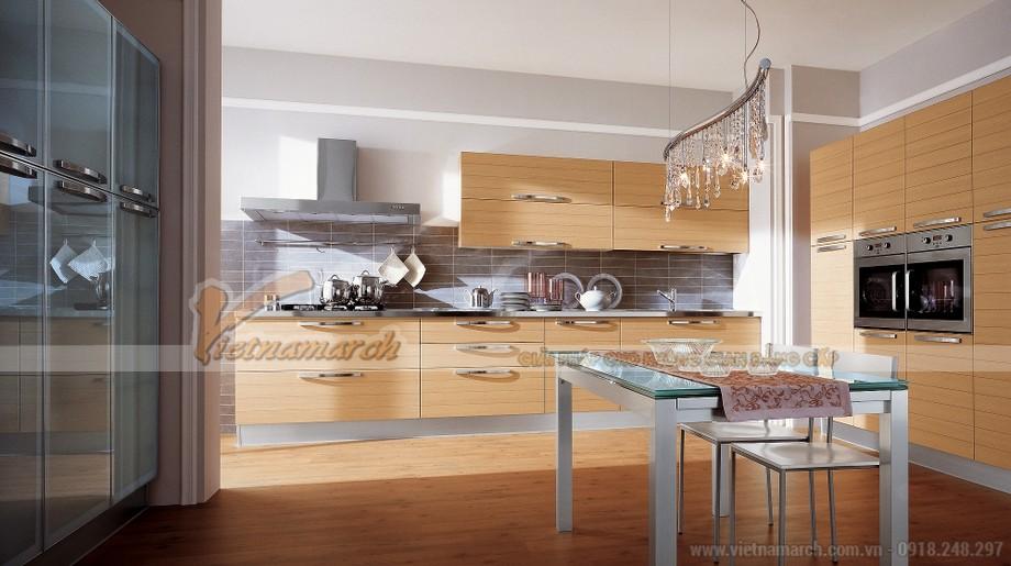 Mẫu thiết kế tủ bếp gỗ tinh tế