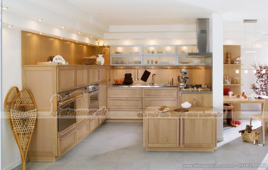Thiết kế tủ bếp gỗ cao cấp