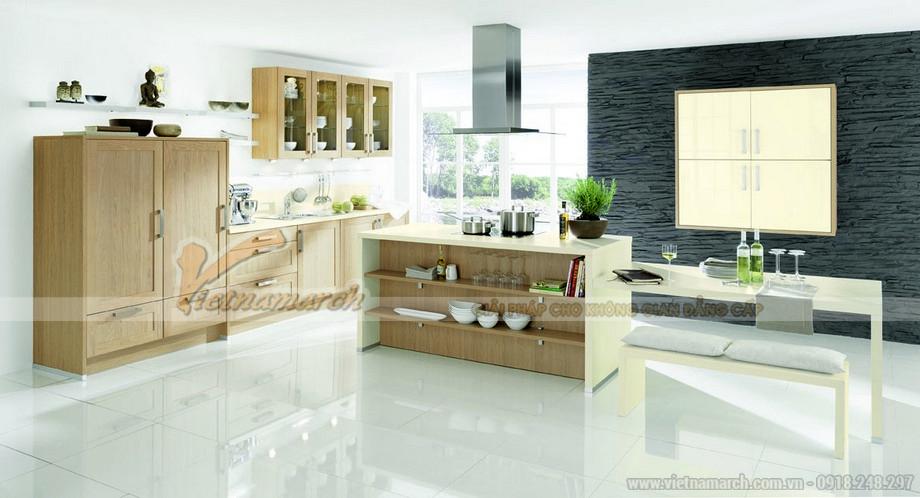 Thiết kế tủ bếp gỗ lịch sự