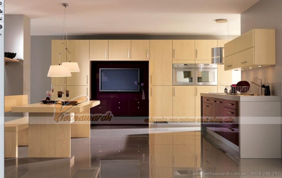 Mẫu thiết kế tủ bếp gỗ trang nhã, lịch sự