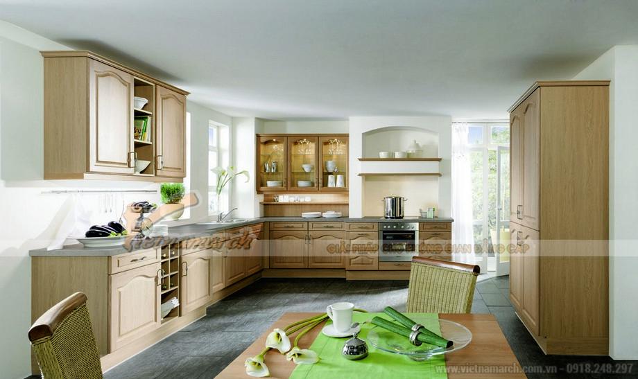 Thiết kế tủ bếp gỗ trang nhã
