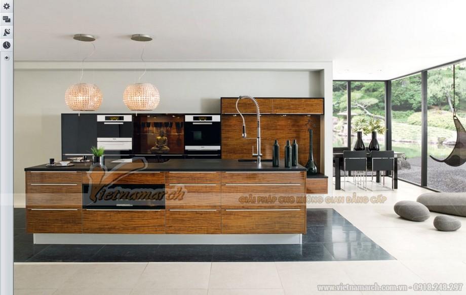 Mẫu thiết kế tủ bếp gỗ sang trọng