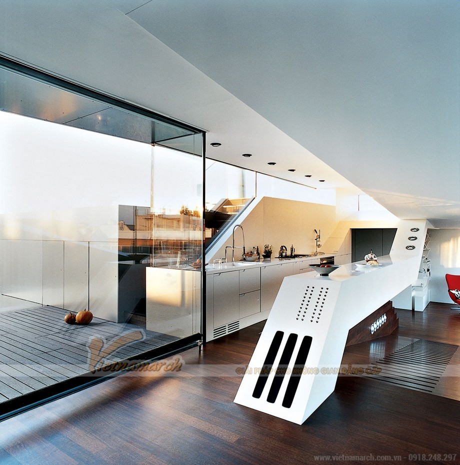 Thiết kế tủ bếp lạ