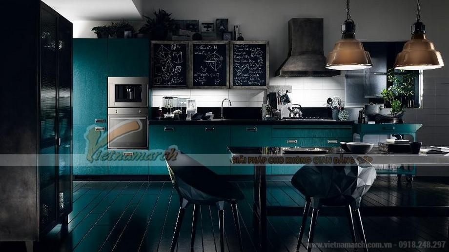 Thiết kế tủ bếp tân cổ điển với gam màu độc, lạ, phong cách
