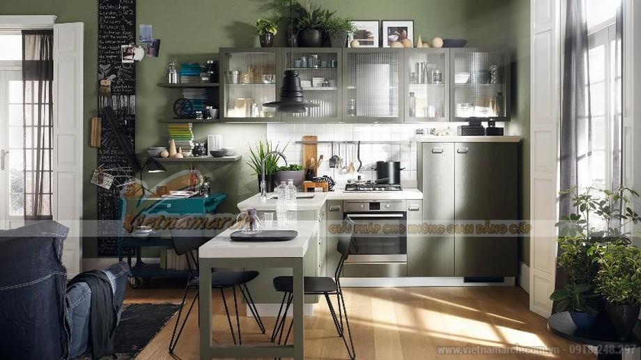 Mẫu thiết kế tủ bếp tân cổ điển