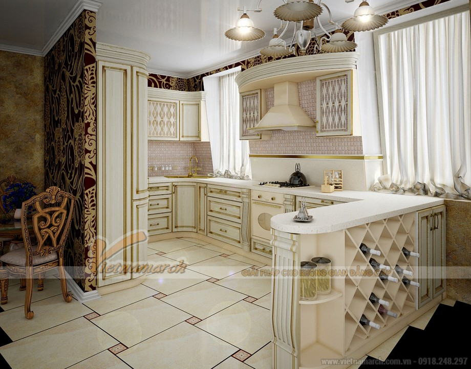 Thiết kế nội thất nhà bếp phong cách đương đại cho không gian bếp lôi cuốn