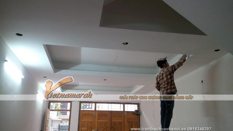 Thi công làm trần thạch cao cho nhà dân tại Hải Phòng
