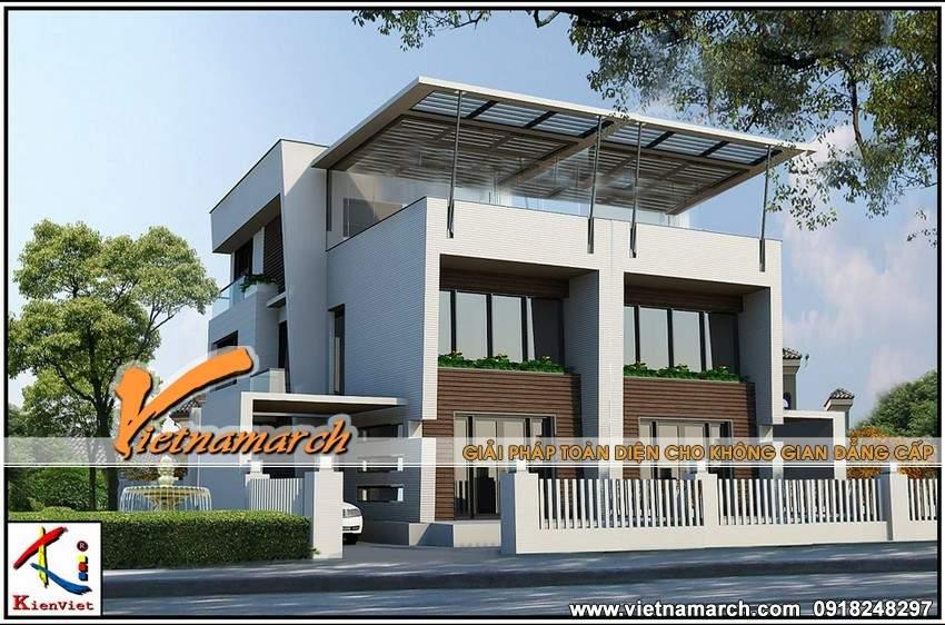 Thiết kế biệt thự song lập 3 tầng nhà anh Phan Anh tại Hà Nội