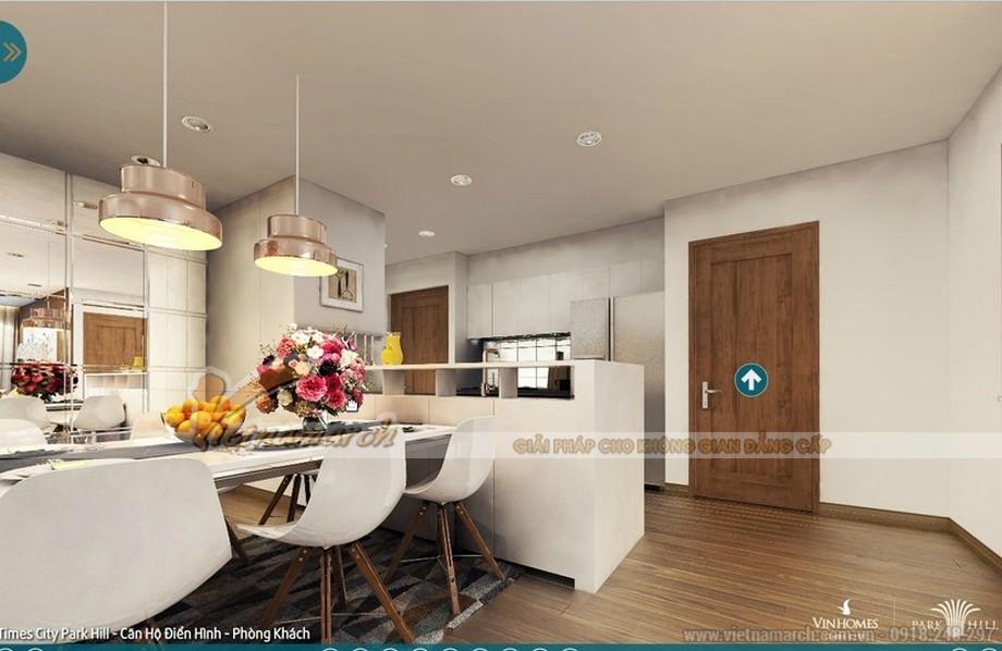 Nhẹ nhàng, giản đơn và tinh tế là chủ đề của thiết kế nội thất căn bếp trong căn hộ 02 - park 5 của chị Lan
