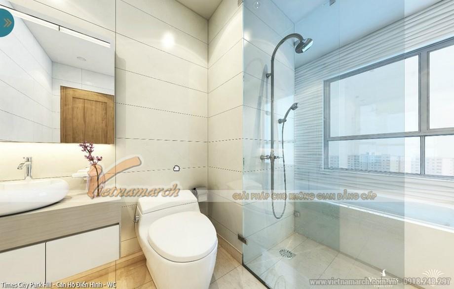 Hiện đại và đơn giản trong nội thất thiết kế phòng tắm của căn hộ 02 - park 5