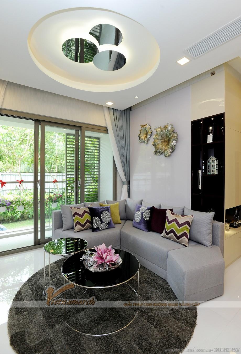 Thiết kế nội thất phòng khách độc - đơn nhưng đa sắc đa màu