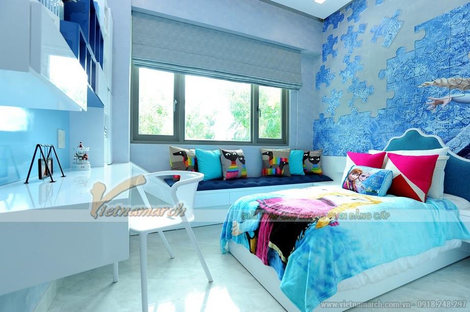 """Thiết kế phòng ngủ """"đại dương"""" trong căn hộ Park Hill Times City"""