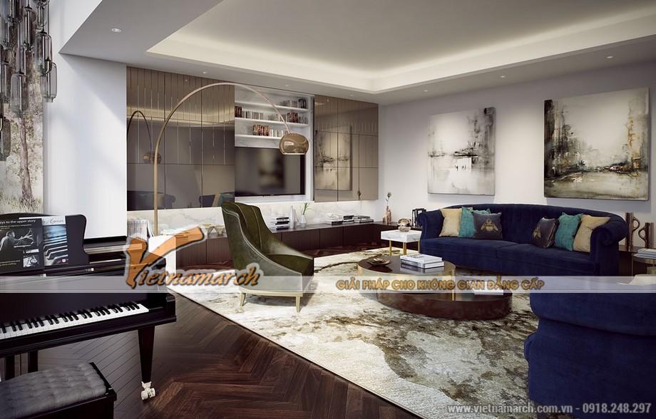 Thiết kế Penthouse chung cư Green Park mang phong cách đương đại