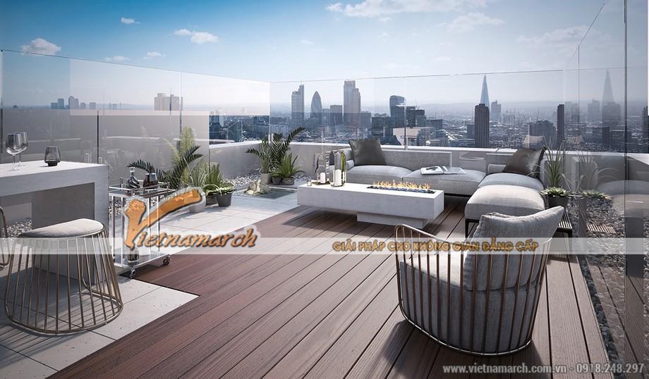 Thiết kế không gian ngoài trời của Penthouse