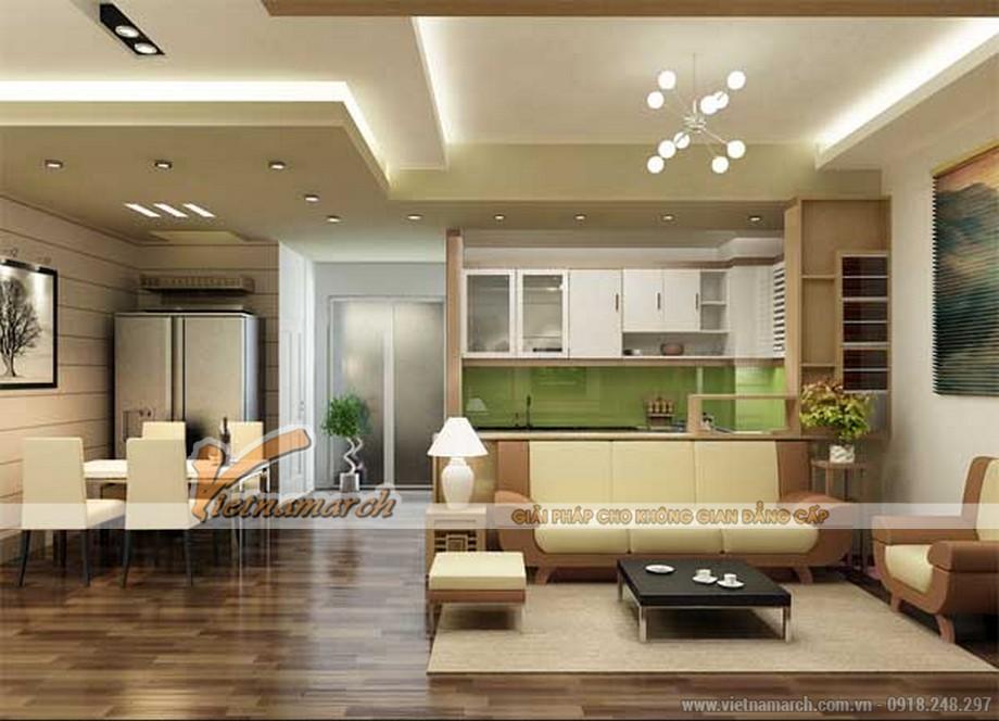 Nội thất phòng khách cao cấp cho căn hộ chung cư Park Hill