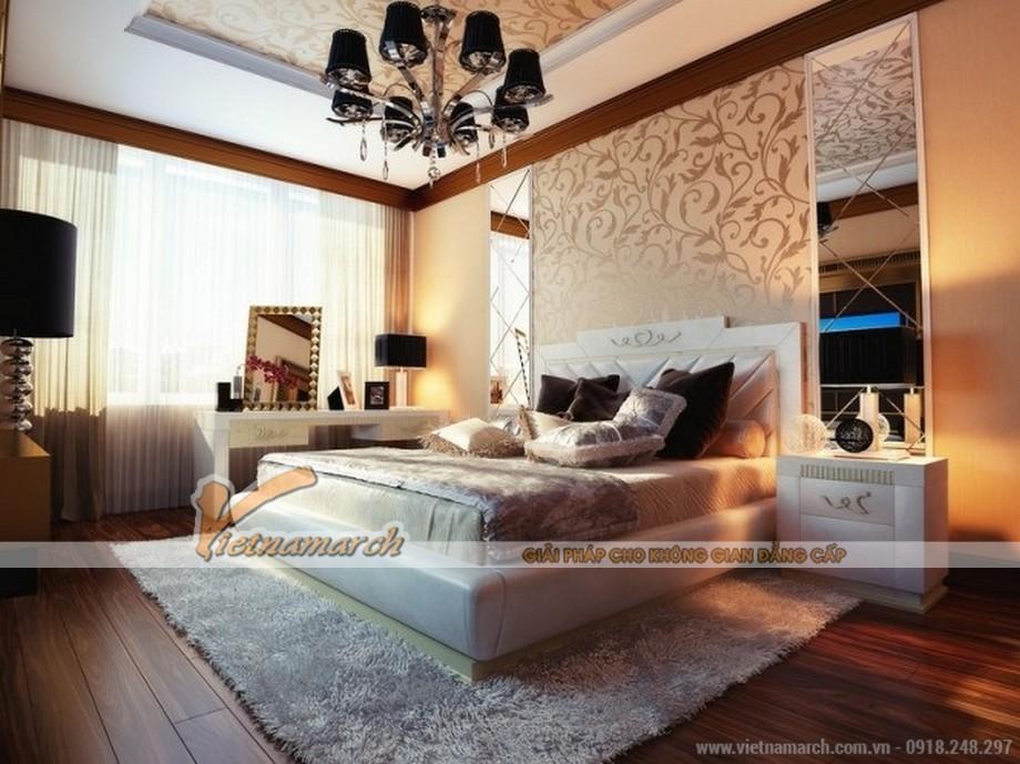 Thiết kế nội thất chung cư Park Hill Times City một phòng ngủ ấm cúng căn hộ chung cư-02