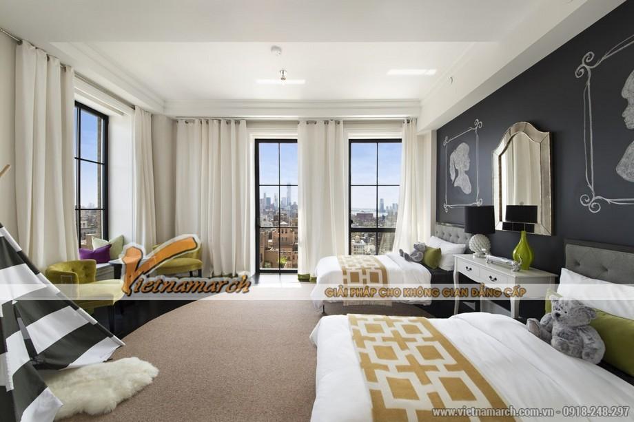 Phòng ngủ với thiết kế 2 giường