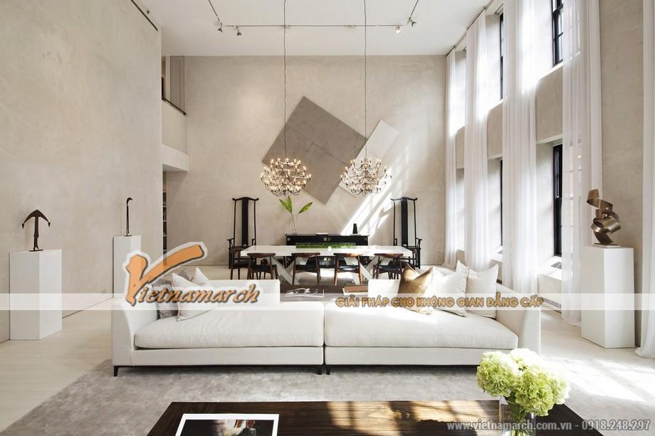 Căn phòng với tông màu sáng chủ đạo tạo cảm giác thanh bình đến lạ kì