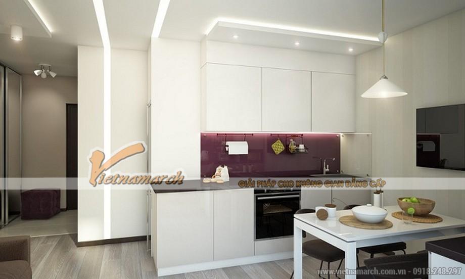 Toàn cảnh khu bếp nấu trong căn hộ 52m2 Chung cư Park Hill
