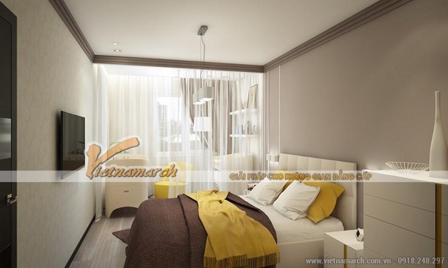 Phòng ngủ khá thoáng và đầy đủ công năng