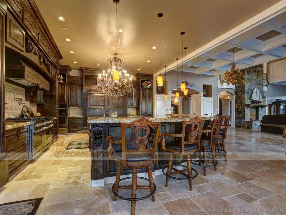 Thiết kế nội thất nhà bếp cho những căn biệt thự tân cổ điển