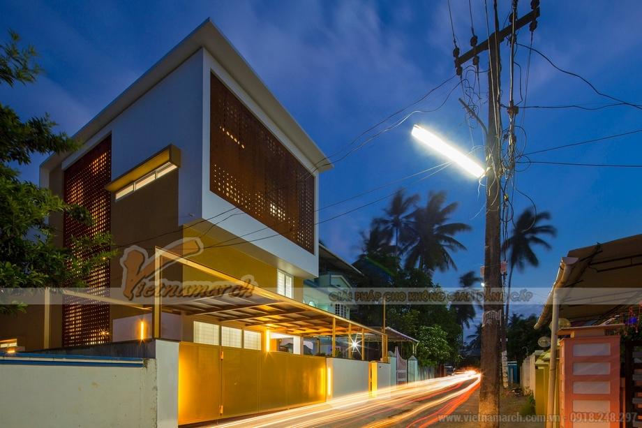 Thiết kế nhà đẹp 2 tầng chi phí thấp cho nhà anh Nam tại Thái Bình