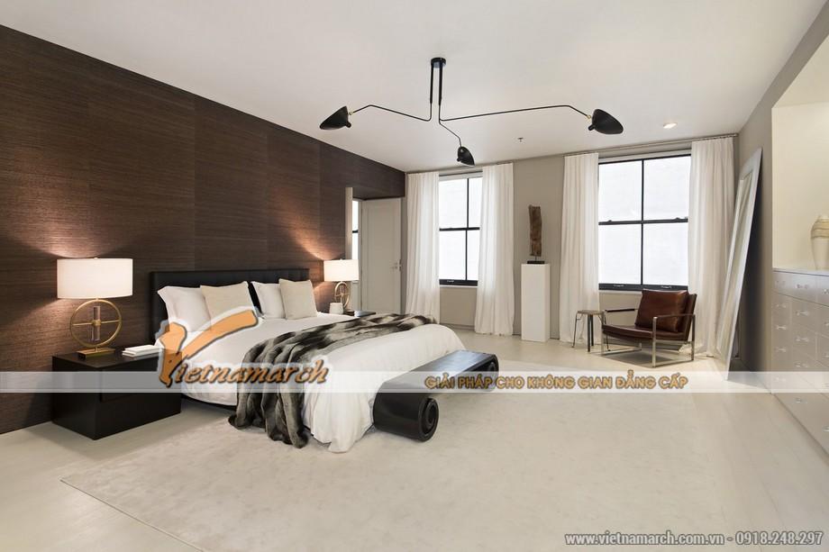 Phòng ngủ có thiết kế độc đáo trong căn hộ Penthouse