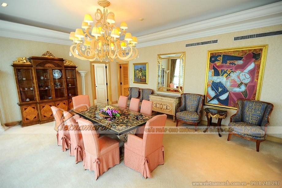 Vẻ đẹp hoàng gia châu Âu trong phòng khách thứ hai