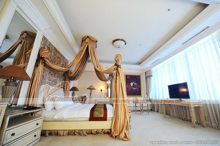 Thiết kế phòng ngủ theo phong cách cổ điển hoàng gia