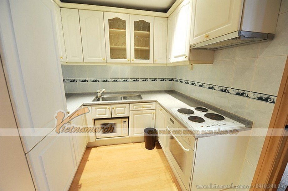Thiết kế nội thất đồng bộ trong căn bếp