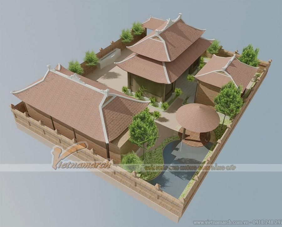 Thiết kế nhà thờ họ 8 mái mặt bằng chữ Nhị tại Tiên Lãng - Hải Phòng