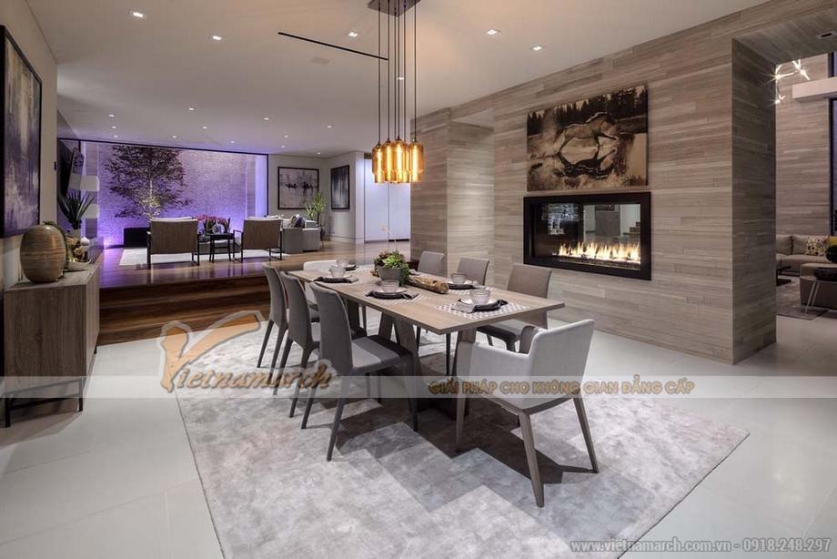 Không gian phòng ăn trong căn hộ Penthouse hiện đại sang trọng