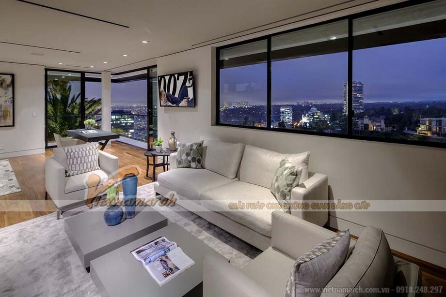 Thiết kế nội thất Penthouse đẹp, độc, hiện đại tại Packexim, Tây Hồ, Hà Nội