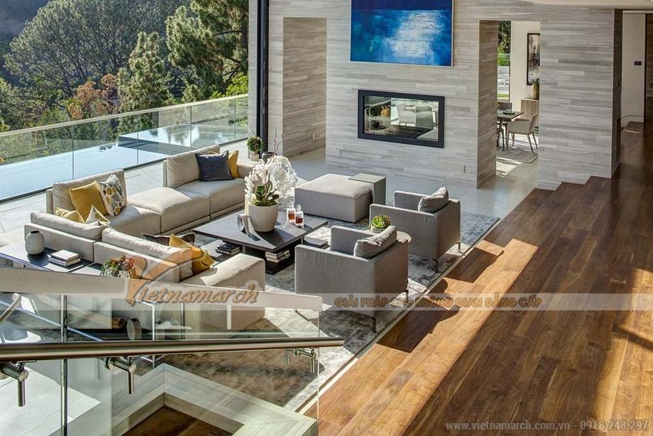 Thiết kế phòng khách ngoài trời trong căn hộ Penthouse