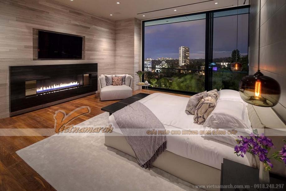 Thiết kế nội thất phòng ngủ trong căn hộ Penthouse