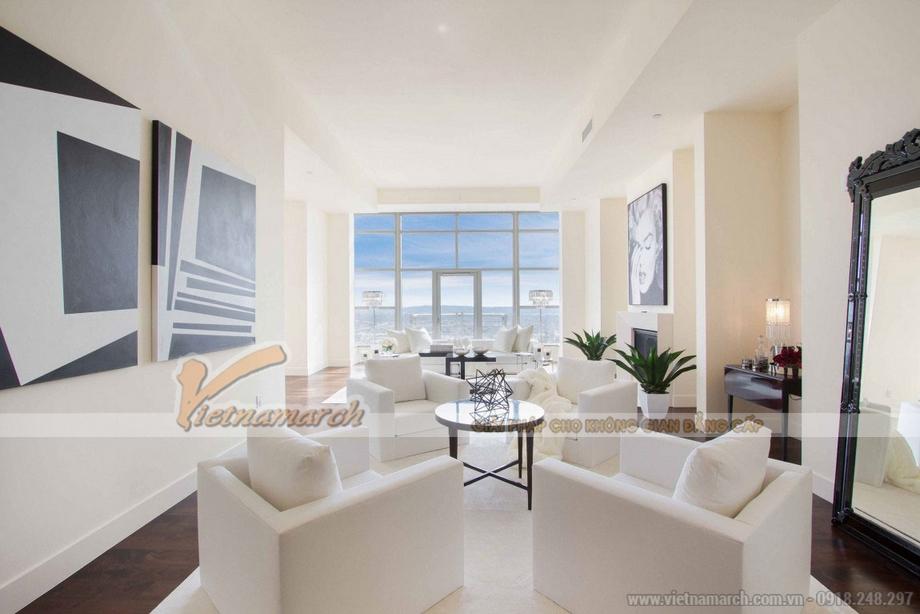 Tuyệt vời với thiết kế nội thất Penthouse Vinhomes Liễu Giai