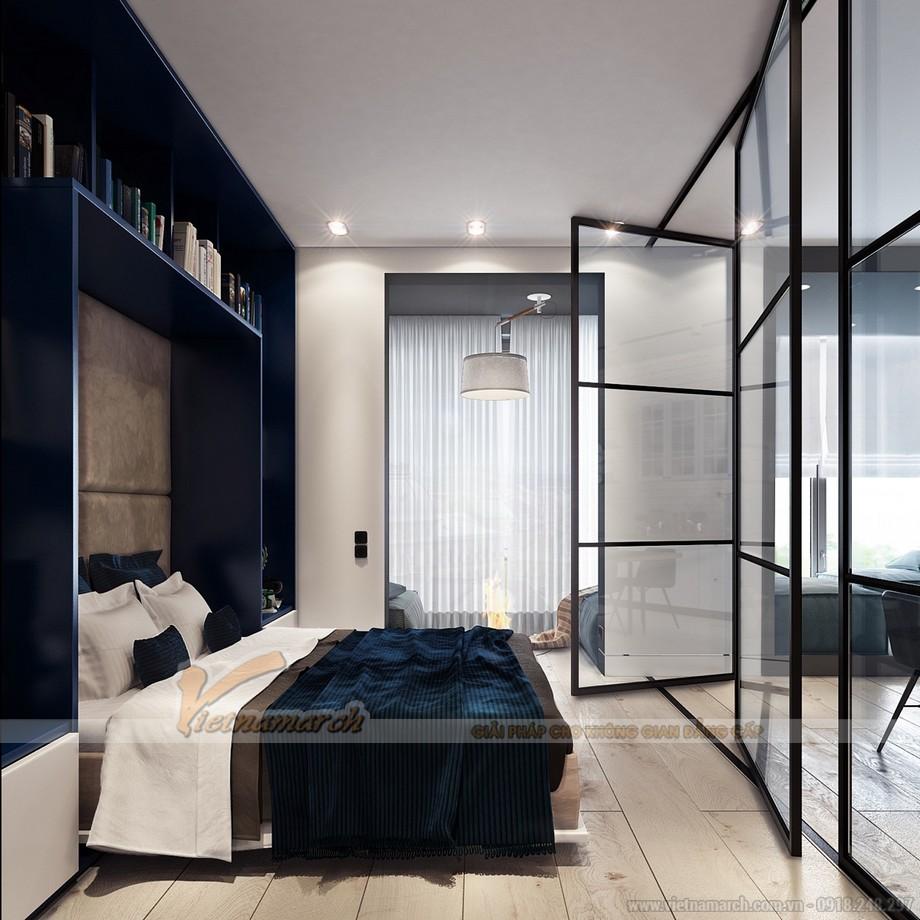 Nội thất trong phòng ngủ hiện đại, thiết kế nhẹ nhàng