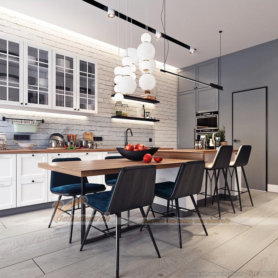 Nội thất phòng bếp đẹp thiết kế hiện đại