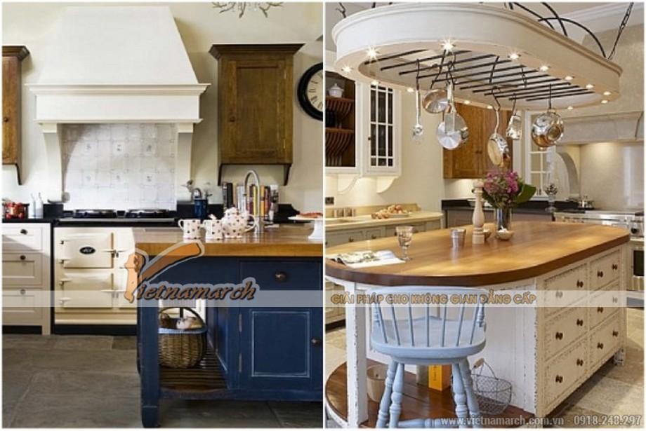 Thiết kế đảo bếp mang hơi hướng tân cổ điển cho Biệt thự