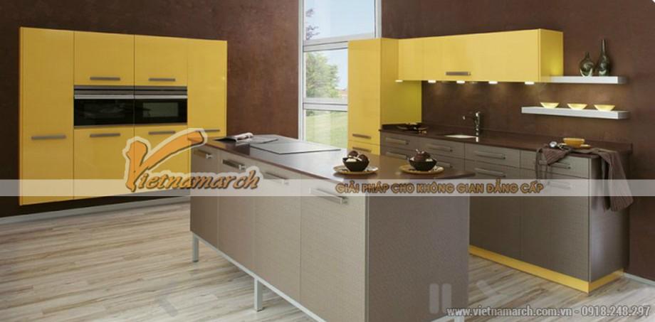Một bếp đảo đơn giản nhưng rất tiện nghi và hiện đại