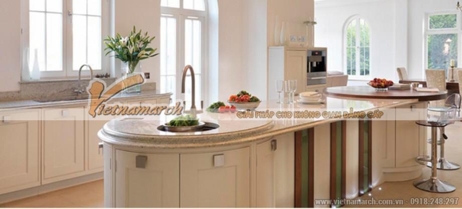 Thiết kế đảo bếp hiện đại cho ngôi Biệt thự sang trọng