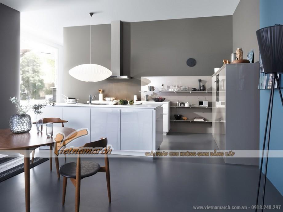 Thiết kế nội thất nhà bếp tràn ngập ánh sáng cho căn hộ chung cư Park Hill