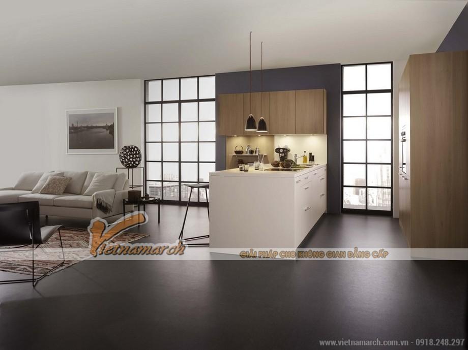 Thiết kế nội thất nhà bếp tràn ngập ánh sáng cho căn hộ chung cư Park Hill 02